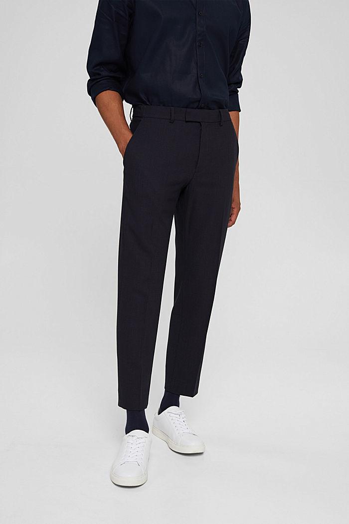Pantalon en laine mélangée JOGG SUIT, DARK BLUE, detail image number 0