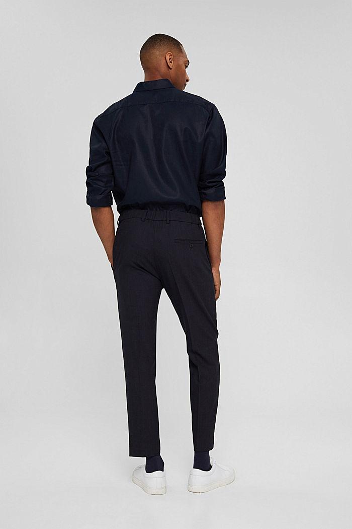 Pantalon en laine mélangée JOGG SUIT, DARK BLUE, detail image number 1