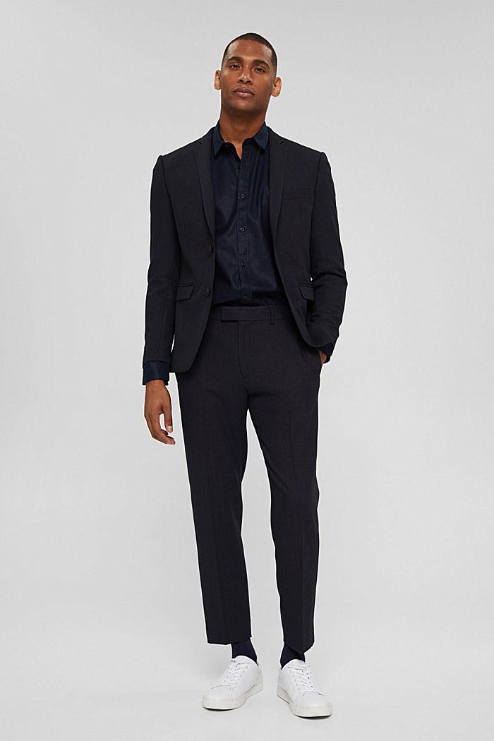 Pantalon en laine mélangée JOGG SUIT, DARK BLUE, detail image number 2