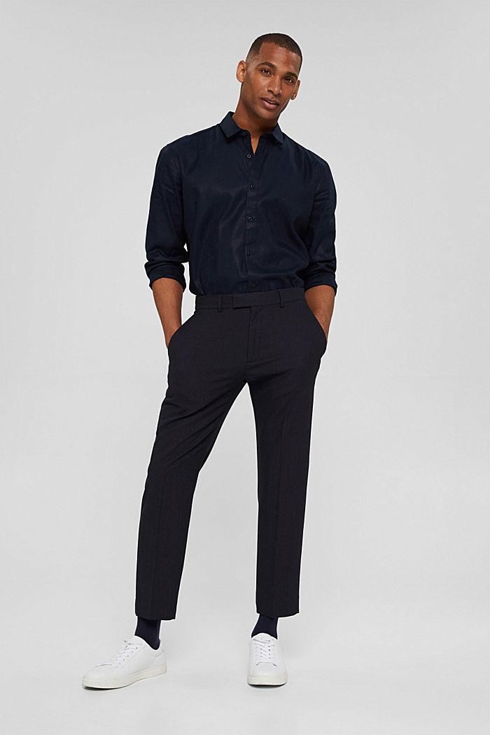 Pantalon en laine mélangée JOGG SUIT, DARK BLUE, detail image number 7