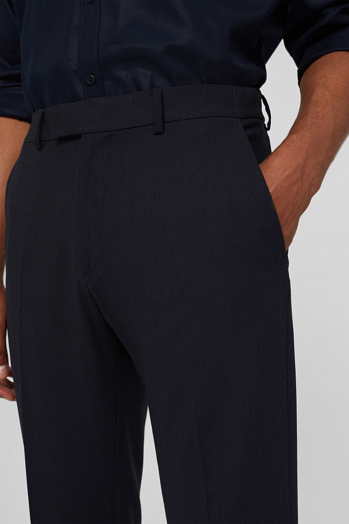 Pantalon en laine mélangée JOGG SUIT, DARK BLUE, detail image number 3