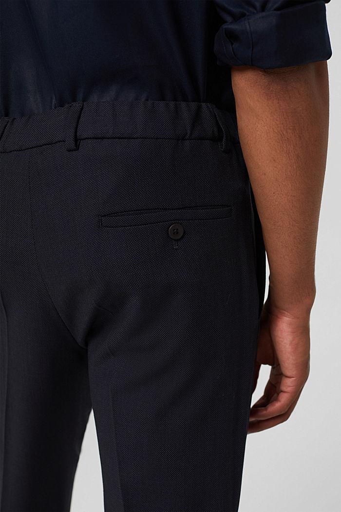 Pantalon en laine mélangée JOGG SUIT, DARK BLUE, detail image number 5