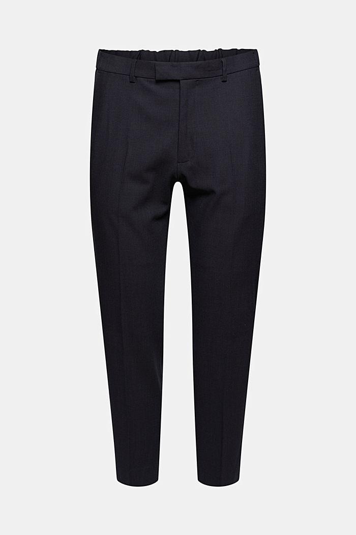 Pantalon en laine mélangée JOGG SUIT, DARK BLUE, detail image number 6