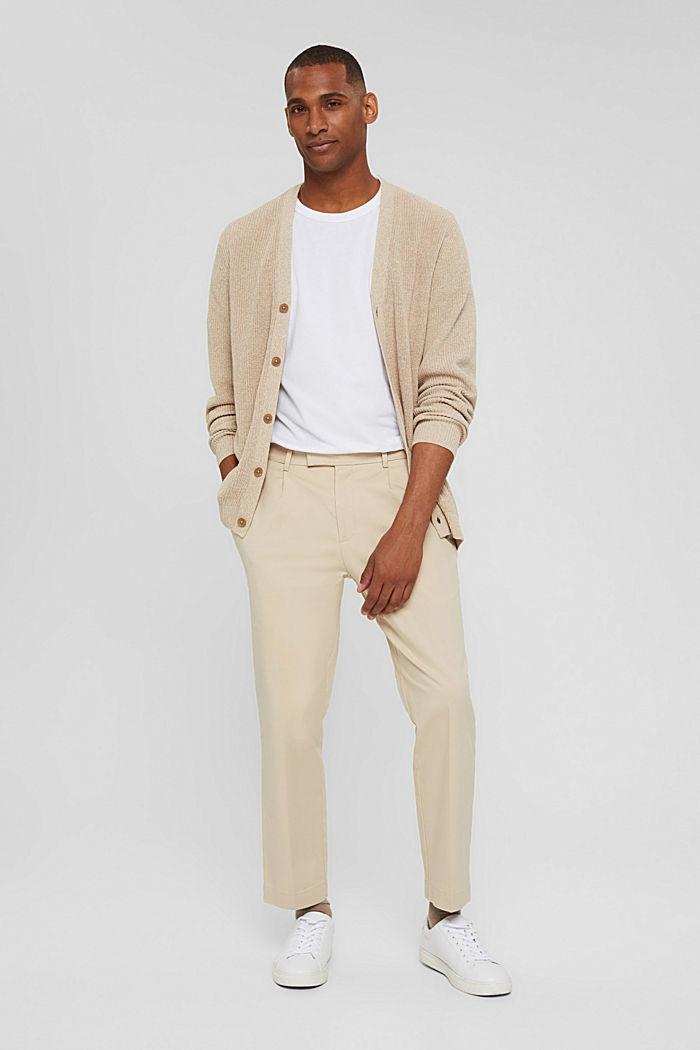 Zkrácené kalhoty z bavlněného streče
