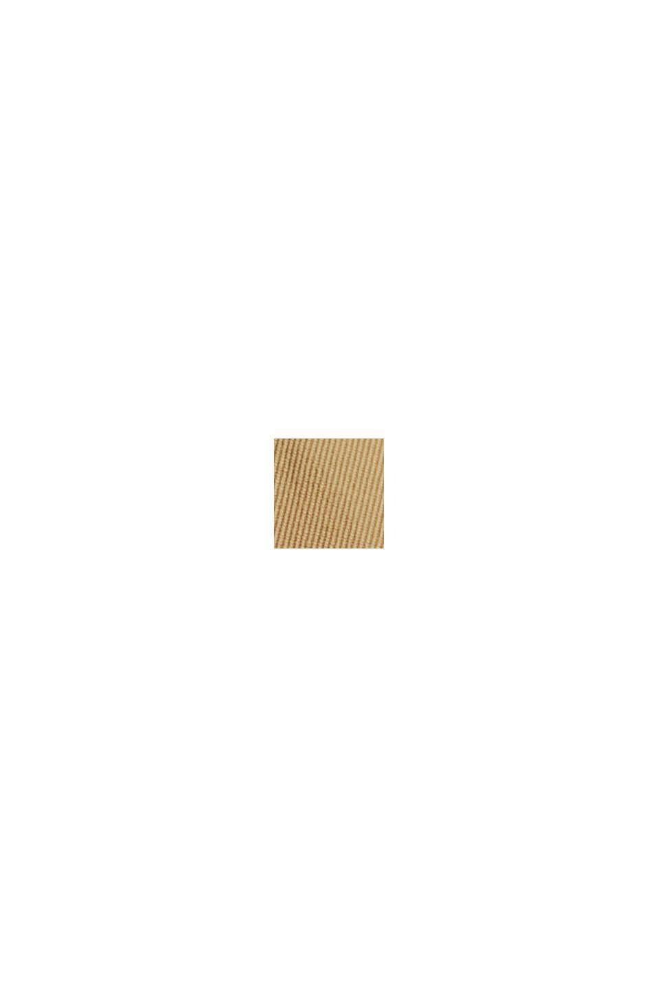 Chino à taille élastique en coton biologique mélangé, BEIGE, swatch
