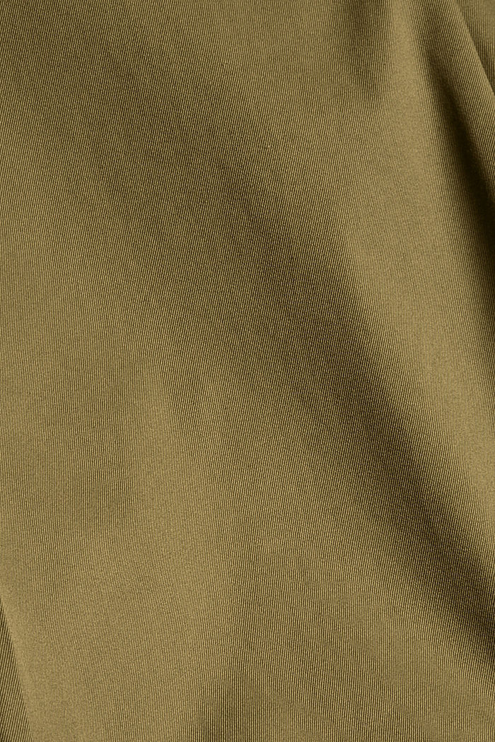 Chinos with an elasticated waistband made of blended organic cotton, LIGHT KHAKI, detail image number 4