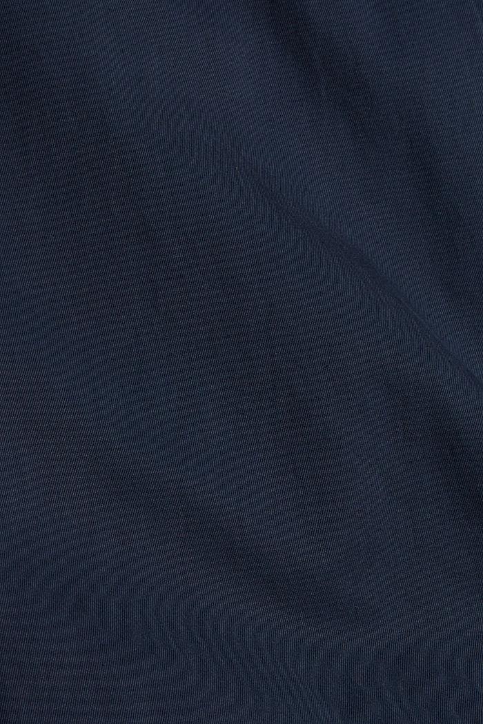 Chino mit Gummibund aus Bio-Baumwoll-Mix, NAVY, detail image number 4
