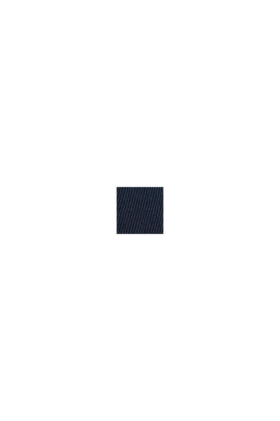 Chino à taille élastique en coton biologique mélangé, NAVY, swatch