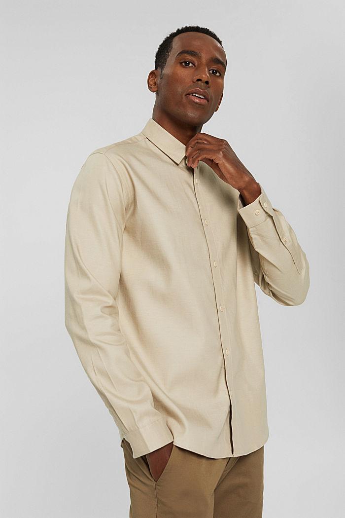 Hemd aus TENCEL™ und Baumwolle, BEIGE, detail image number 5