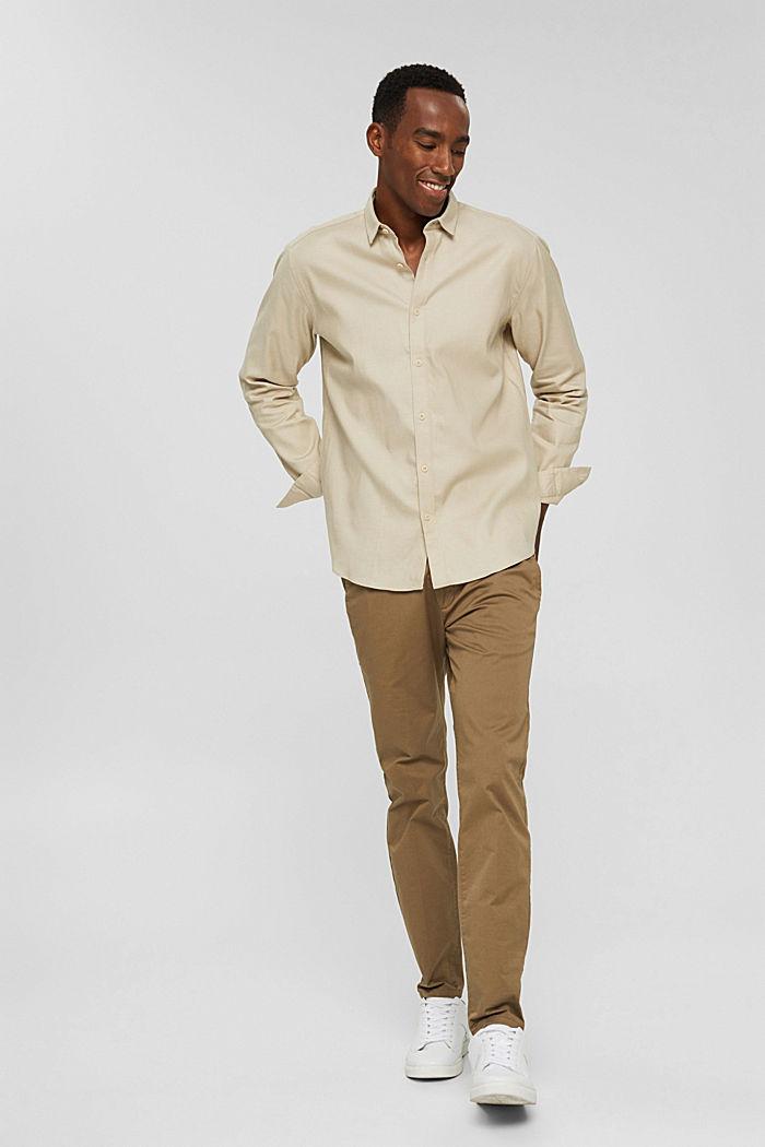 Hemd aus TENCEL™ und Baumwolle, BEIGE, detail image number 7