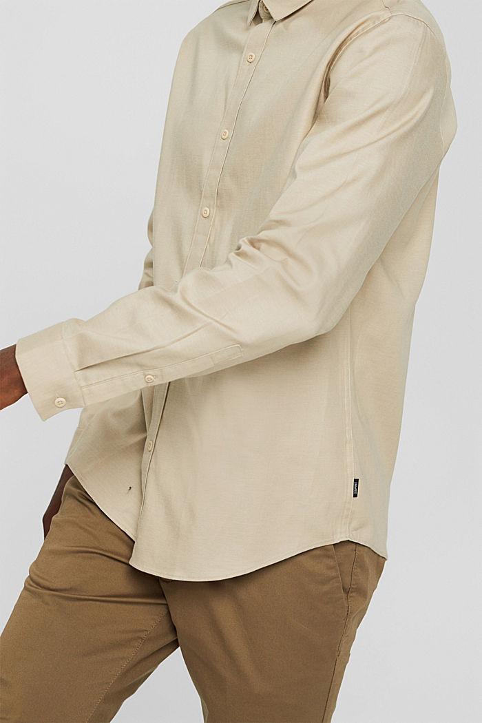 Hemd aus TENCEL™ und Baumwolle, BEIGE, detail image number 2
