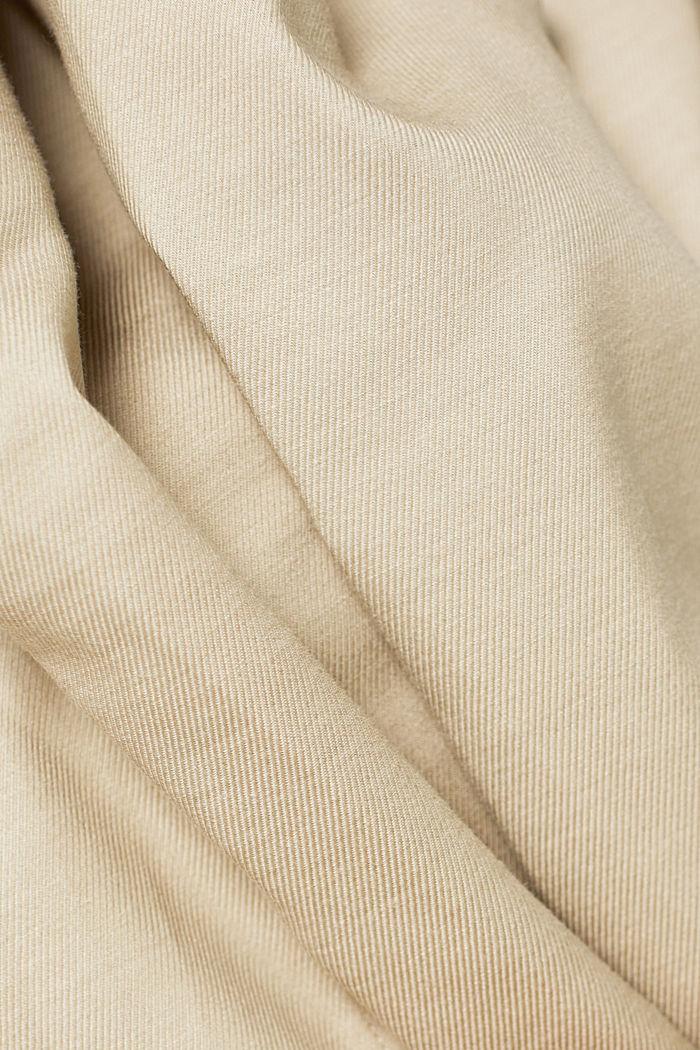 Hemd aus TENCEL™ und Baumwolle, BEIGE, detail image number 4