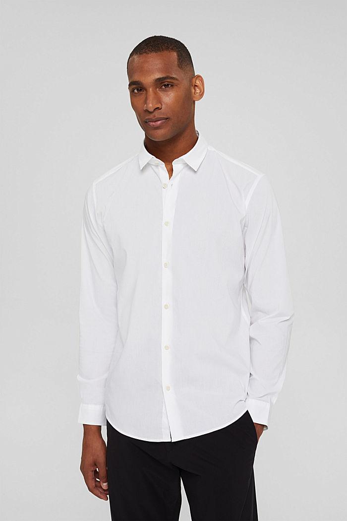 Mit Leinen/COOLMAX®: Hemd mit variablem Kragen, WHITE, detail image number 0