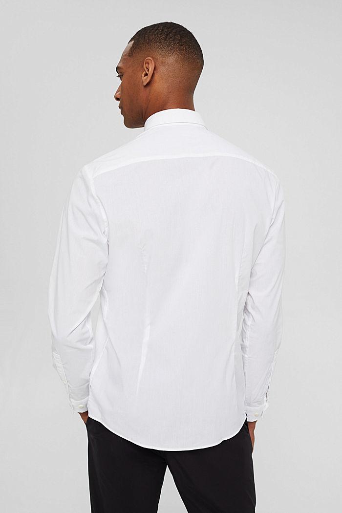 Mit Leinen/COOLMAX®: Hemd mit variablem Kragen, WHITE, detail image number 3