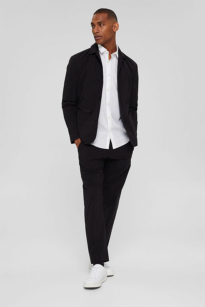 Mit Leinen/COOLMAX®: Hemd mit variablem Kragen, WHITE, detail image number 1