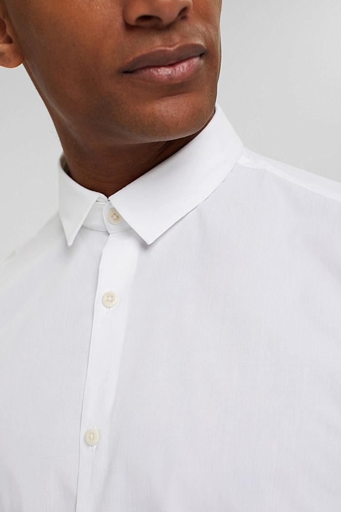 Mit Leinen/COOLMAX®: Hemd mit variablem Kragen, WHITE, detail image number 2