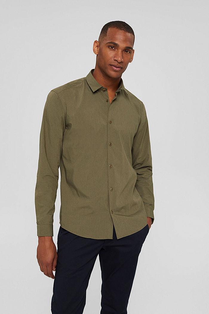 Mit Leinen/COOLMAX®: Hemd mit variablem Kragen, LIGHT KHAKI, detail image number 0