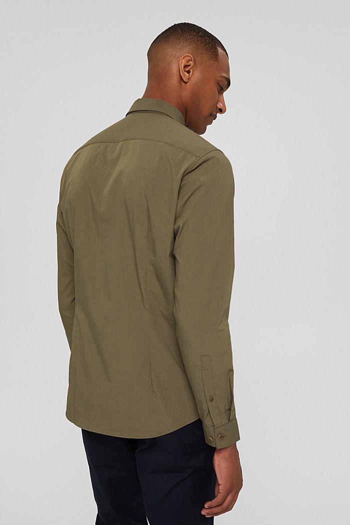 Mit Leinen/COOLMAX®: Hemd mit variablem Kragen, LIGHT KHAKI, detail image number 3