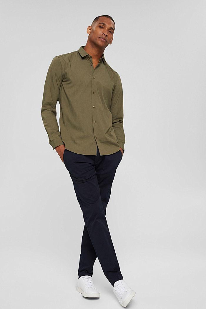 Mit Leinen/COOLMAX®: Hemd mit variablem Kragen, LIGHT KHAKI, detail image number 7