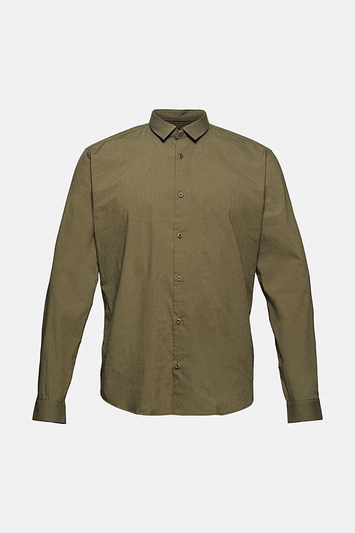Mit Leinen/COOLMAX®: Hemd mit variablem Kragen, LIGHT KHAKI, detail image number 8