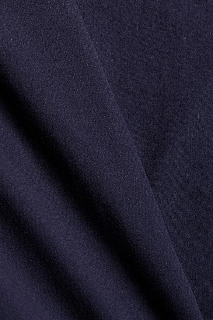 Mit Leinen/COOLMAX®: Hemd mit variablem Kragen, NAVY, detail image number 4
