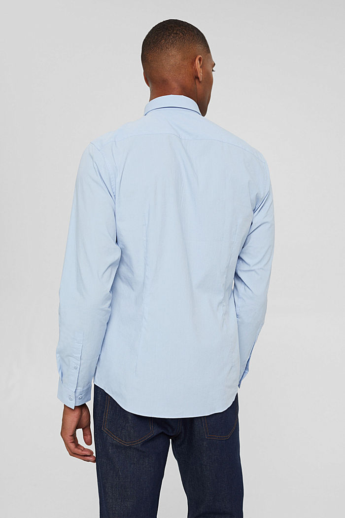 Mit Leinen/COOLMAX®: Hemd mit variablem Kragen, LIGHT BLUE, detail image number 3