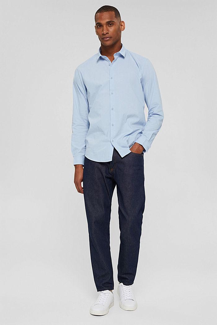 Mit Leinen/COOLMAX®: Hemd mit variablem Kragen, LIGHT BLUE, detail image number 7