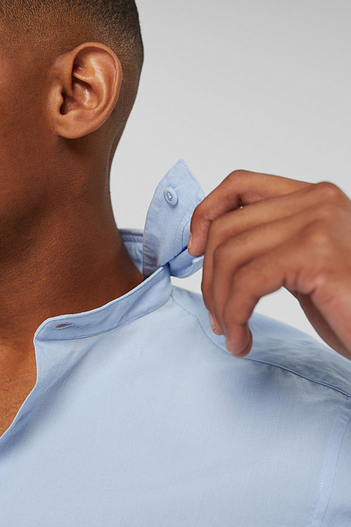 Mit Leinen/COOLMAX®: Hemd mit variablem Kragen, LIGHT BLUE, detail image number 2