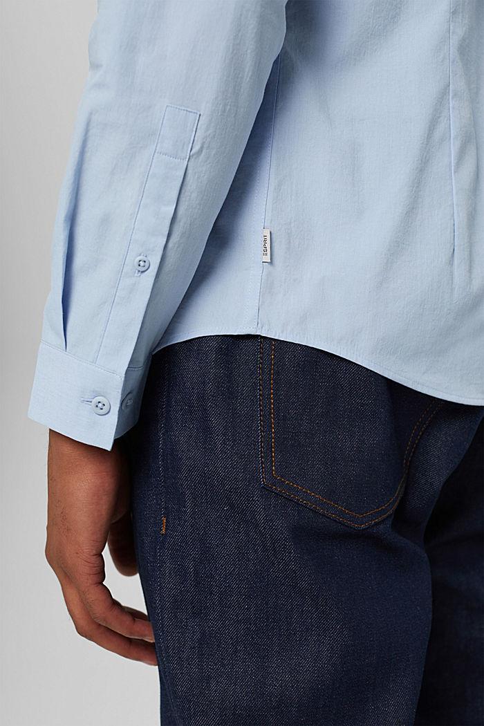 Mit Leinen/COOLMAX®: Hemd mit variablem Kragen, LIGHT BLUE, detail image number 5