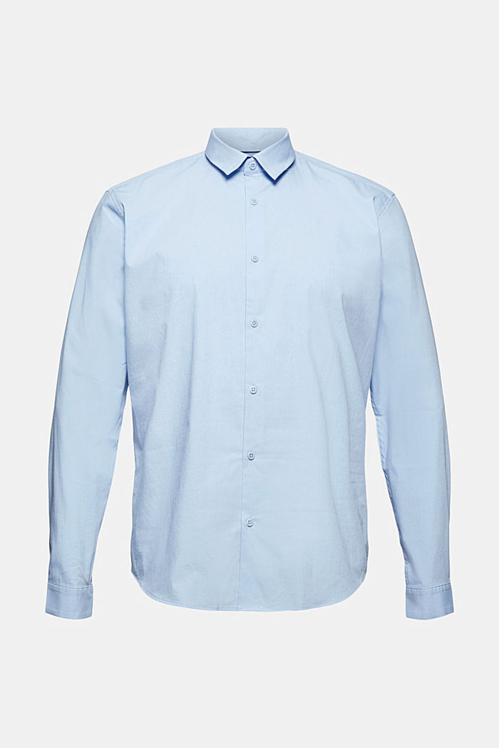 Mit Leinen/COOLMAX®: Hemd mit variablem Kragen, LIGHT BLUE, detail image number 8