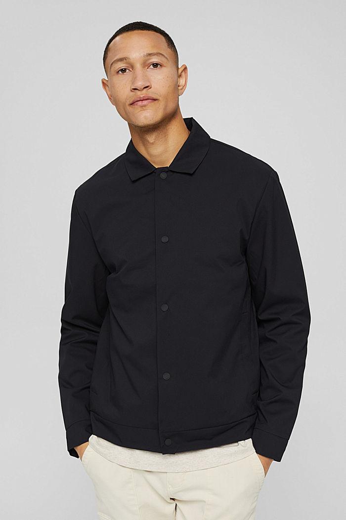 Recycelt: funktionales Overshirt, BLACK, detail image number 0