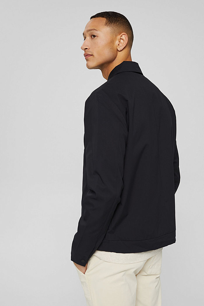 Recycelt: funktionales Overshirt, BLACK, detail image number 3