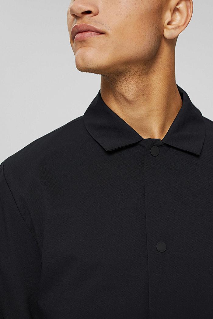 Recycelt: funktionales Overshirt, BLACK, detail image number 2