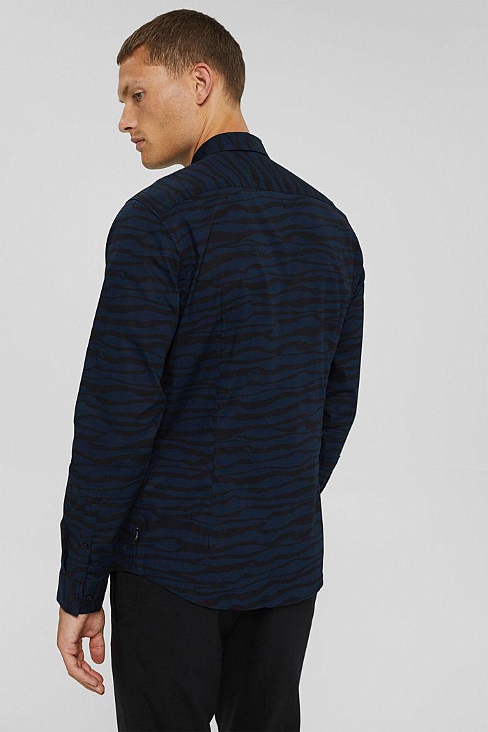 Gemustertes Hemd aus 100% Organic Cotton, DARK BLUE, detail image number 3