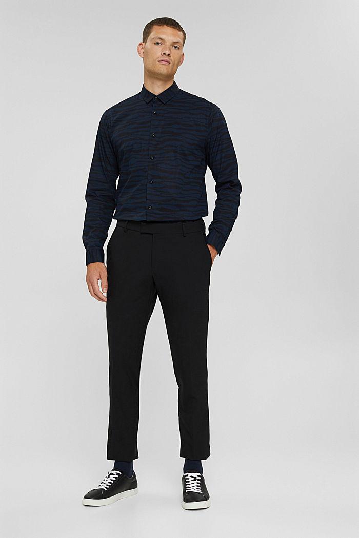 Gemustertes Hemd aus 100% Organic Cotton, DARK BLUE, detail image number 5