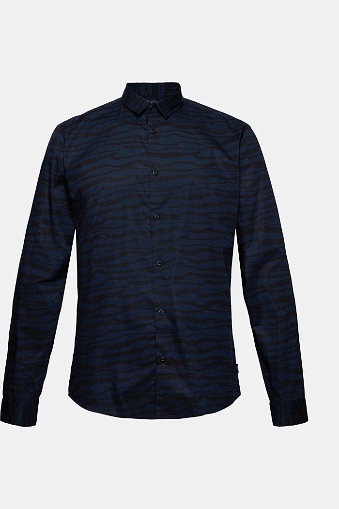 Gemustertes Hemd aus 100% Organic Cotton