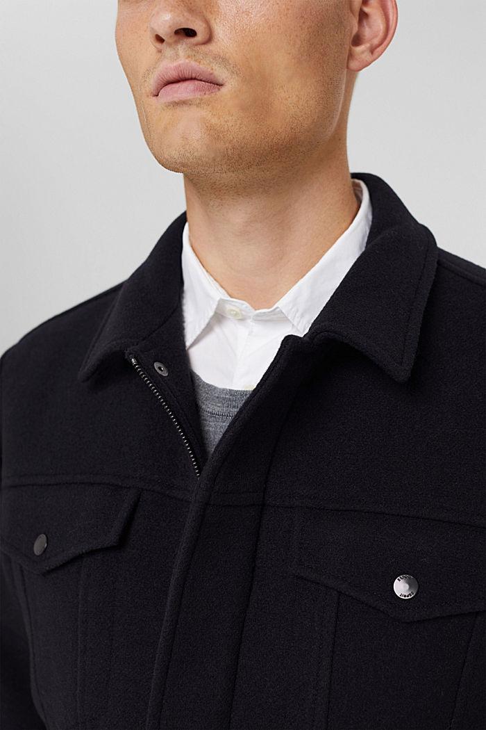 Responsible Wool: Jacke mit RWS Wolle, DARK BLUE, detail image number 2