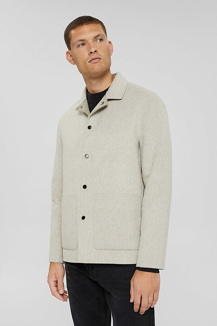 Responsible Wool: Jacke mit RWS Wolle, LIGHT BEIGE, detail image number 0