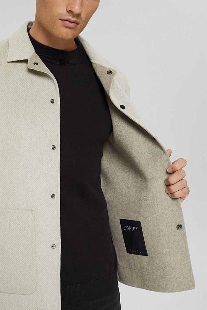 Responsible Wool: Jacke mit RWS Wolle, LIGHT BEIGE, detail image number 2