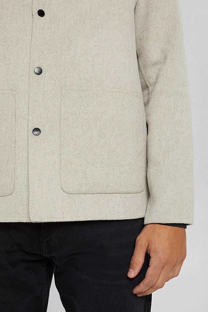 Responsible Wool: Jacke mit RWS Wolle, LIGHT BEIGE, detail image number 7