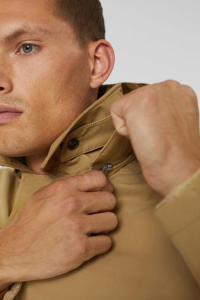 Manteau rembourré en coton mélangé, BEIGE, detail image number 4
