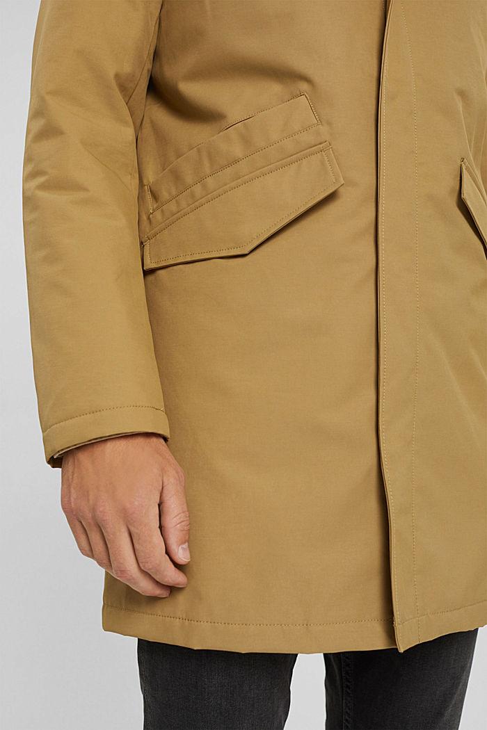 Manteau rembourré en coton mélangé, BEIGE, detail image number 2