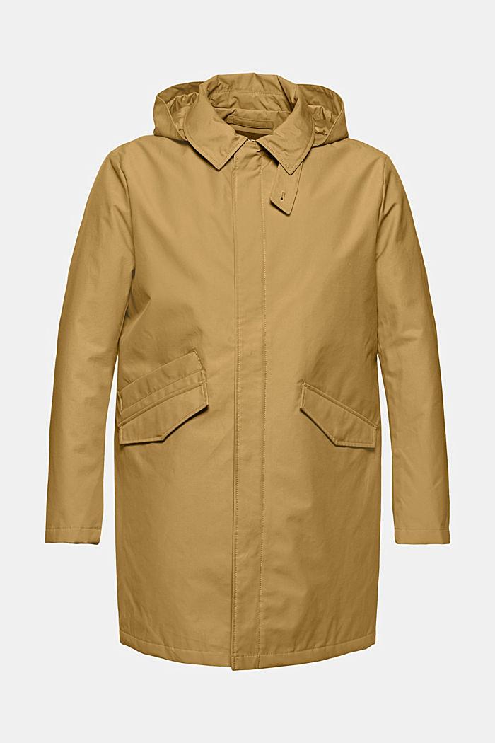 Manteau rembourré en coton mélangé, BEIGE, detail image number 8