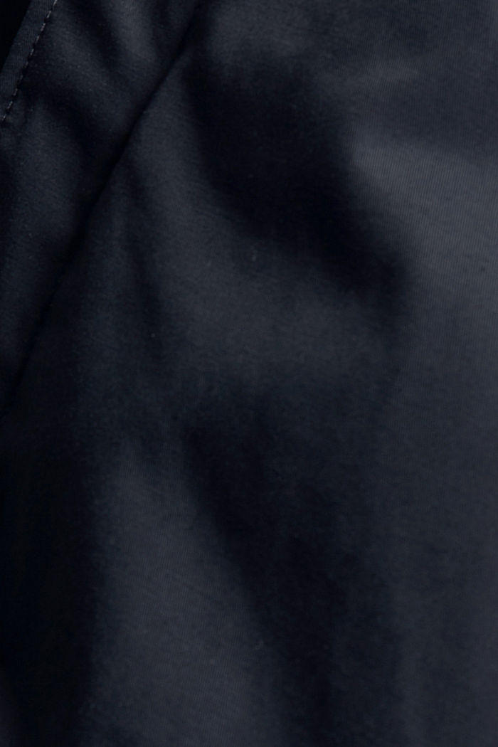 Gewatteerde mantel van een katoenmix, DARK BLUE, detail image number 4