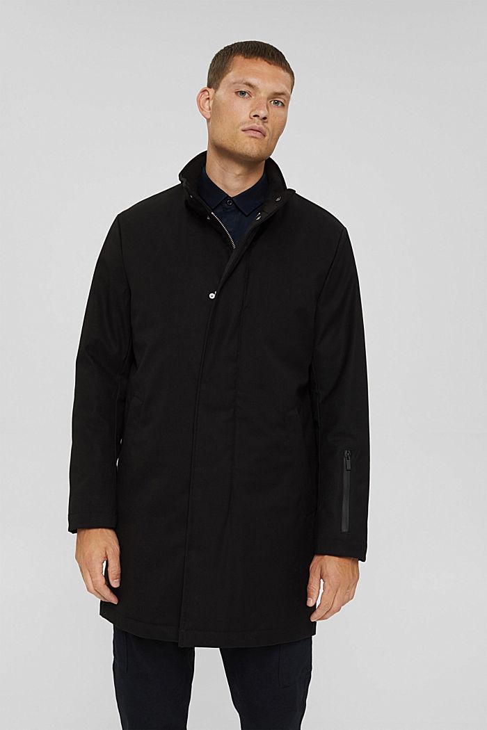 En matière recyclée: le manteau rembourré, BLACK, detail image number 0