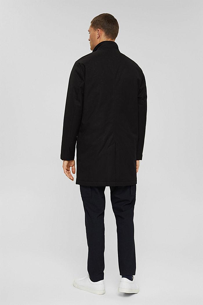 En matière recyclée: le manteau rembourré, BLACK, detail image number 3