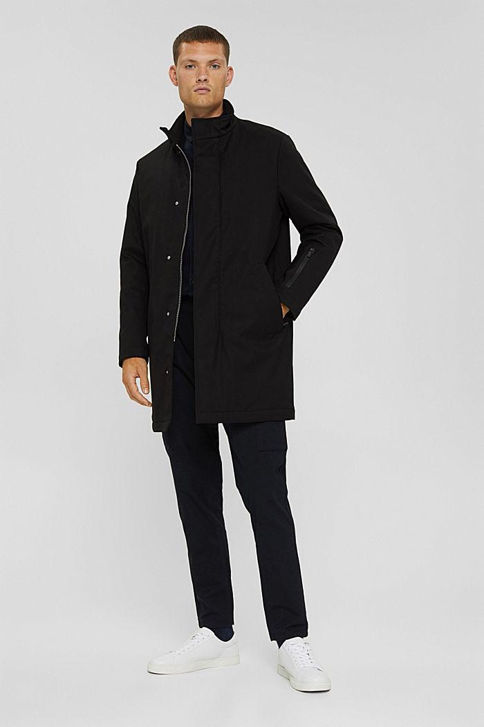 Gerecycled: gewatteerde mantel