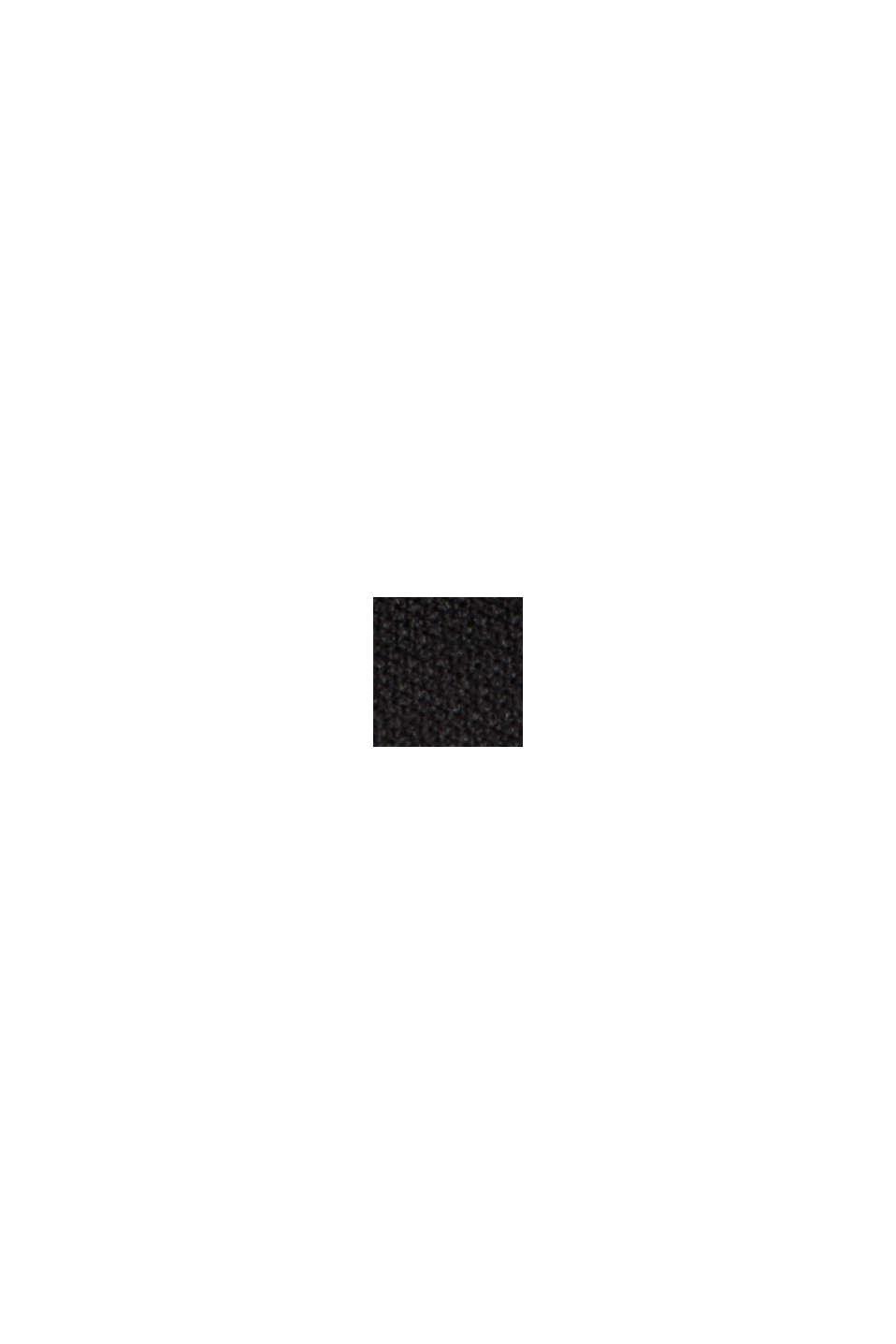 Gerecycled: gewatteerde mantel, BLACK, swatch
