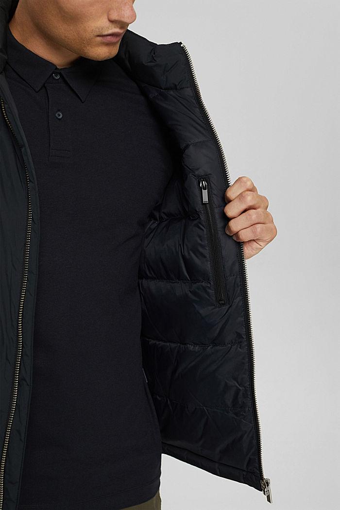 Recycelt: Jacke mit Daunenfüllung, BLACK, detail image number 2