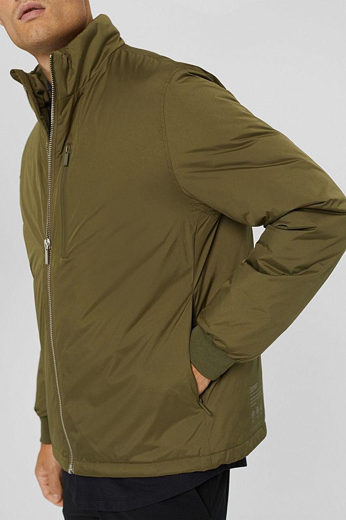 Gerecycled: jas met donzen wattering, LIGHT KHAKI, detail image number 2
